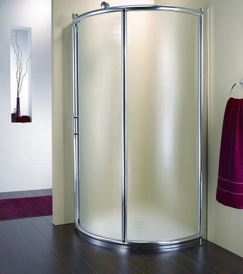 frost glass door corner shower enclosure images