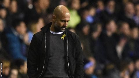 """The FA spoke to Pep Guardiola twice before charging him after Manchester City's FA Cup defeat at Wigan  Manchester  City manager Pep Guardiola has been fined 20000 for wearing a yellow  ribbon on the touchline during the FA Cup defeat at Wigan.  On  Monday the Spaniard accepted the Football Association charge for  """"wearing a political message"""" a breach of kit and advertising  regulations. In November Guardiola said he wore the ribbon to support imprisoned politicians in his native Catalonia…"""
