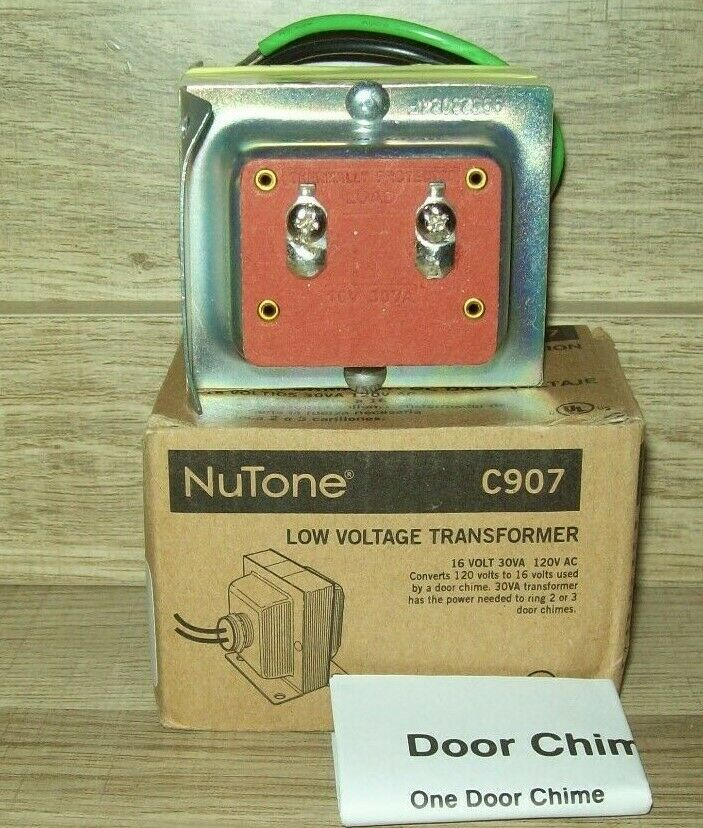 Nutone C907 Doorbell Transformer Compatible With Smart Video Doorbells 16v 30va In 2020 Doorbell Transformer Video Doorbell Smart Video