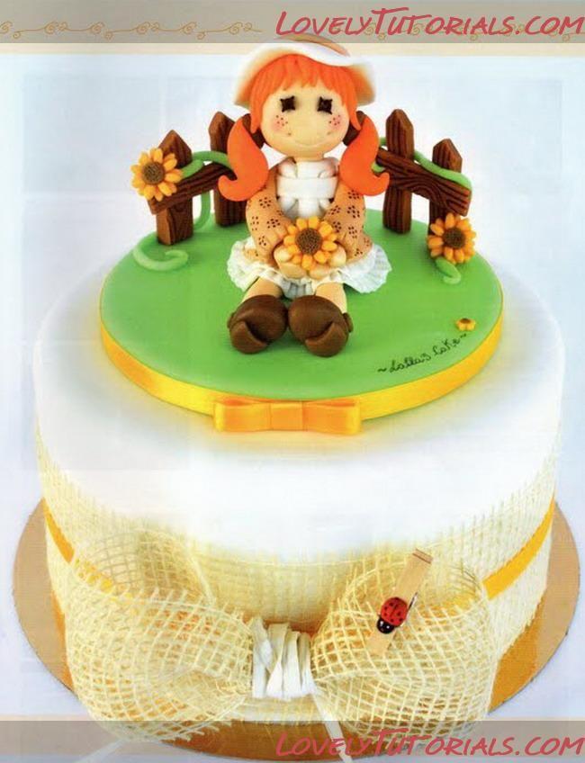 """МК лепка """"девочка в шляпке сидя"""" -Sitting girl figurine sculpting tutorial - Мастер-классы по украшению тортов Cake Decorating Tutorials (How To's) Tortas Paso a Paso"""