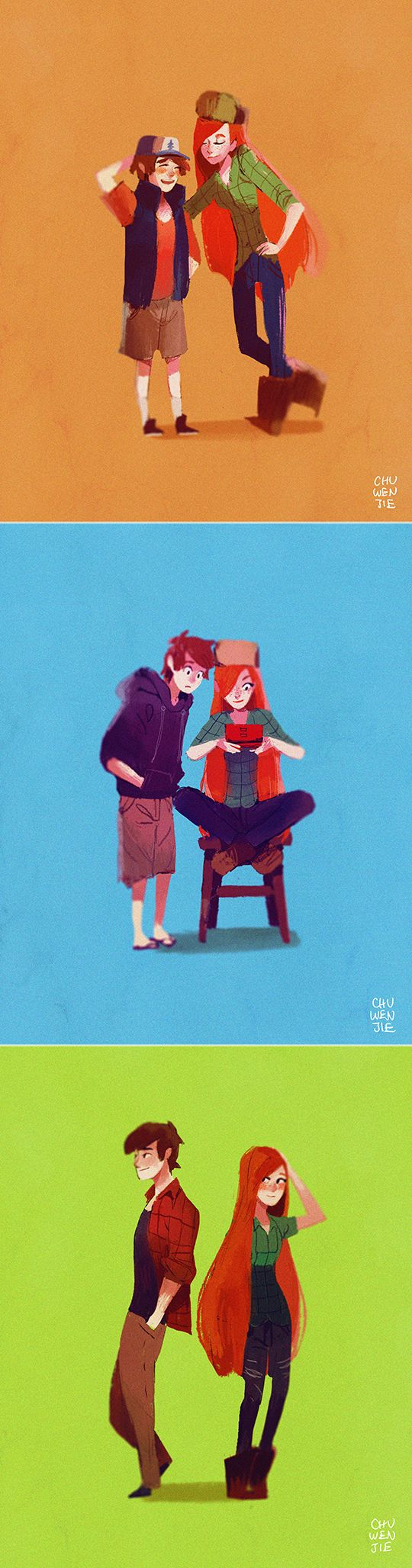 dipper x wendy by chuwenjie.deviantart.com on @DeviantArt