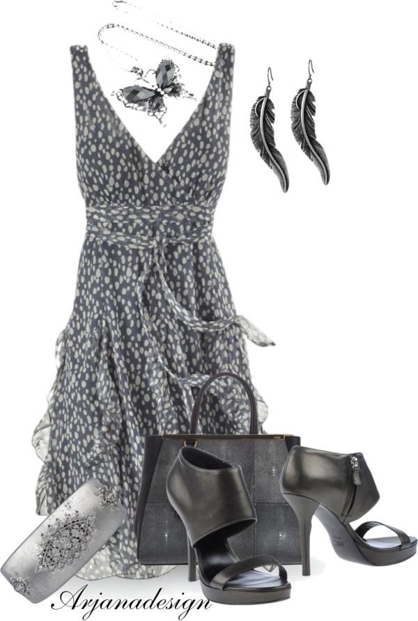 """Smoke Dress"" by arjanadesign ❤ liked on Polyvore"