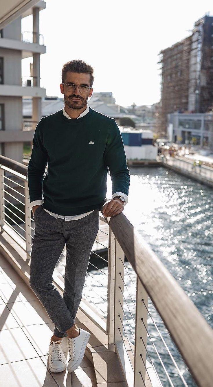 Business-Casual-Outfits für Männer, die Sie im Winter täglich tragen können 50
