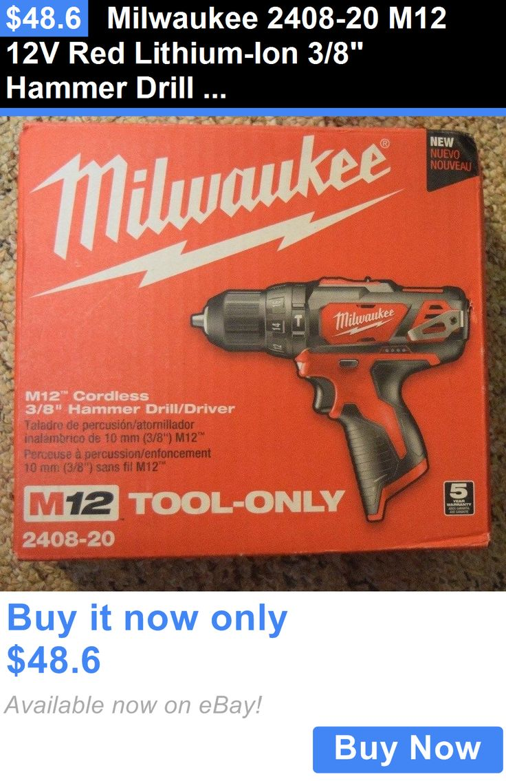 tools: Milwaukee 2408-20 M12 12V Red Lithium-Ion 3/8 Hammer Drill Driver Cordless New BUY IT NOW ONLY: $48.6