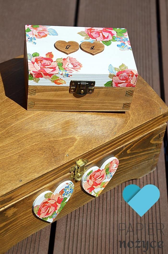 ★ Pudełko na obrączki ★ http://papier-nozyce.pl/pl/p/ROSE-II/53 ★ Kufer na koperty ślubne ★ http://papier-nozyce.pl/pl/p/ROSE-box-III/60