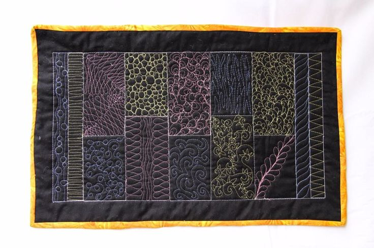 Machine Quilting Level 2 (Create your own Free Motion Sampler) Tuesday 27th September 2016 - 10am- 4pm Gill Towell £38.00