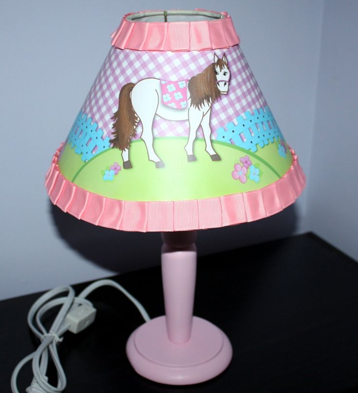 pink and blue horse wooden lamp for girls bedroom by toadandlily girls room. Black Bedroom Furniture Sets. Home Design Ideas