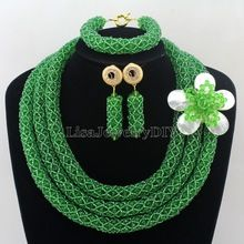 Handmade Statement Necklace Chunky African Wedding Jewelry Sets Nigerian Beaded Wedding Bridal Necklace Jewelry Set HD7255 //FREE Shipping Worldwide //