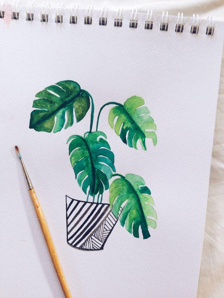 Geometric Fox Watercolored Idea From Pinterest Watercolor Easy