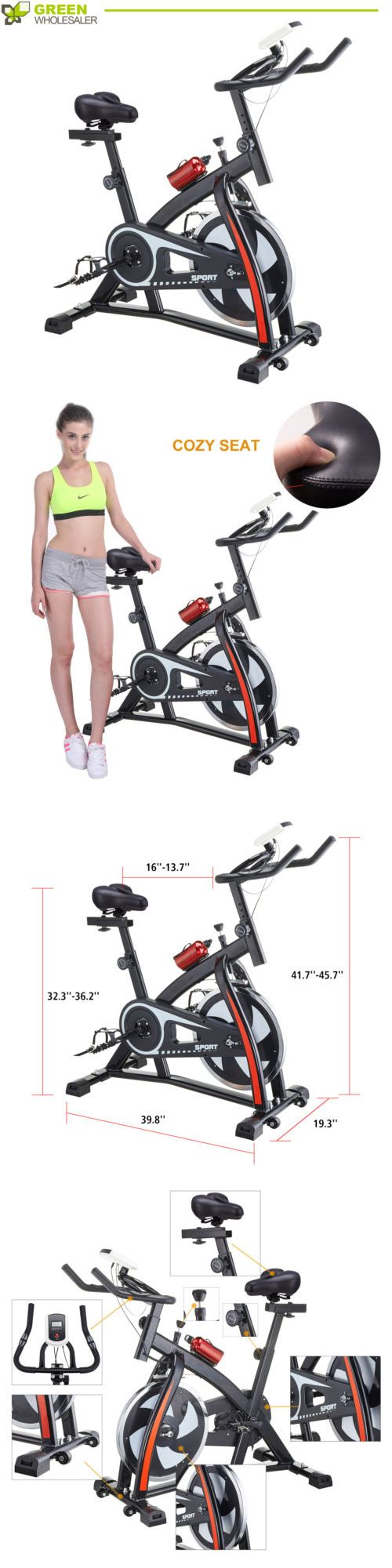 Exercise Bikes 58102: Stationary Upright Exercise Bike Bicycle Cardio Cycling Fitness Lcd And Cozy Seat -> BUY IT NOW ONLY: $157 on eBay!