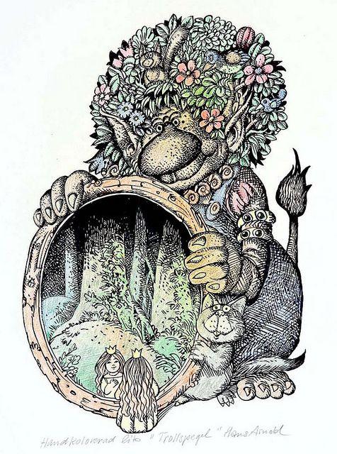 """""""Troll spegel"""" Hans Arnold"""