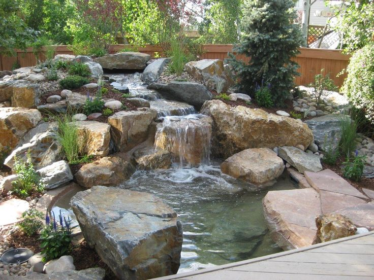 Decoration, Lovely Wooden Fences For Natural Backyard Ideas With Stone  Decor: Pleasant Types Of Fences For Home | Garden | Pinterest | Water  Features, ...