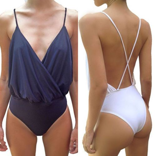 Women Sexy Spaghetti Strap Backless Bodysuit Strappy Tops Jumpsuit in Clothes, Shoes & Accessories, Women's Clothing, Jumpsuits & Playsuits | eBay