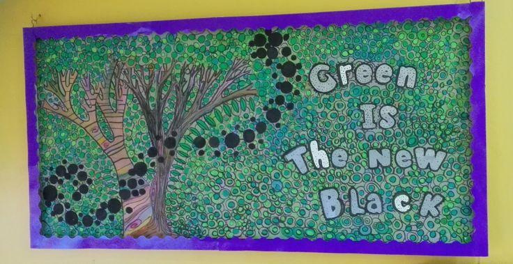 Nuestro precioso Mural del 2do Nivel del #colegioabcschool #begreen #teens #arte www.cademyrd.com 809-856-8068