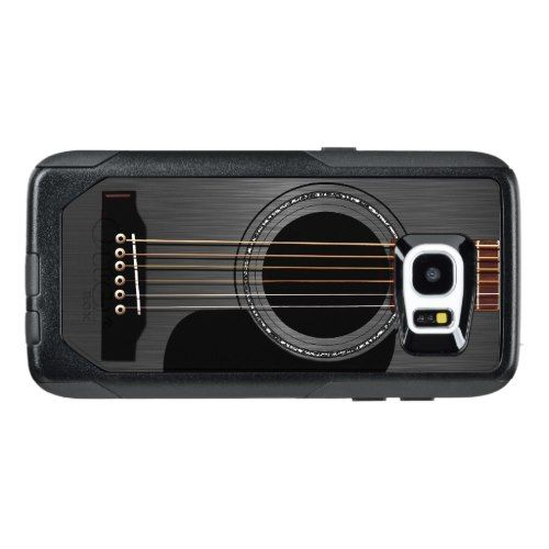 Ash Black Acoustic Guitar OtterBox Samsung Galaxy S7 Edge Case