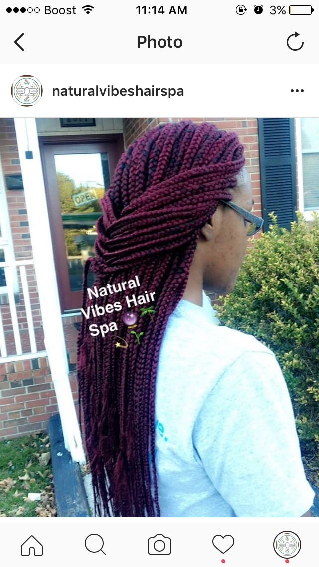 Beautiful Burgundy Box Braids. Come get your flawless box braid install, any color any length. All prices, availability, details and specials can be found on StyleSeat.com/bristaytwistin. TEXT 9194217551 FOR BOOKING ASSISTANCE  #boxbraids #braids #bombbraids #coloredbraids #redbraids #redhair #burgundyhair #burgundy #braidstyles #braidlife #ncbraids #raleighbraids #durhambraids #nchair #durhamhair #raleighhair #protectivestyles #naturalhair #naturalstyles #naturalhairstyles…