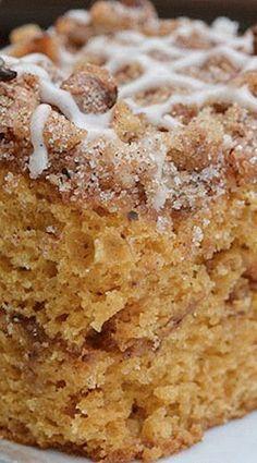 Spiced Pumpkin Coffee Cake Recipe