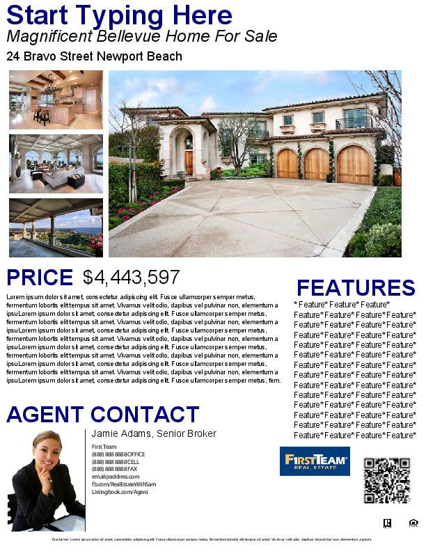 37 best Real Estate Marketing Flyer Templates images on Pinterest - home for sale template