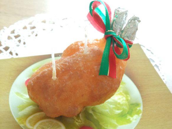 クリスマスのごちそうの代表、七面鳥をキャンドルにしてみました。本物そっくりの皮、燃やすとまるで食べてしまったかのように溶けていくつくり、溶けると中から&ldq...|ハンドメイド、手作り、手仕事品の通販・販売・購入ならCreema。