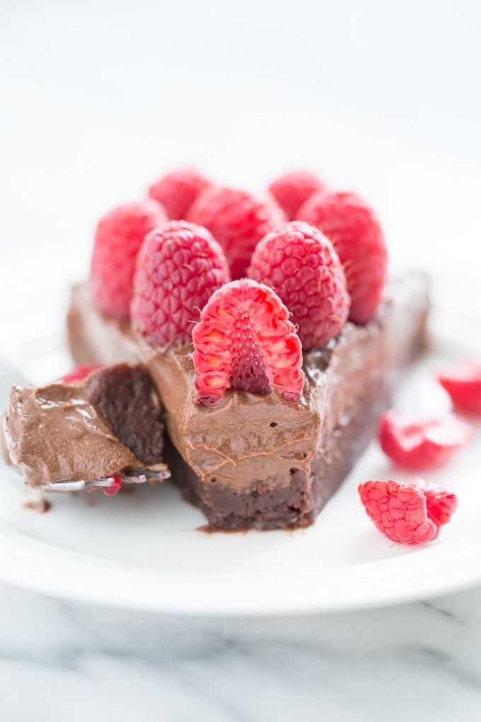 Chocolate Mousse Brownies | Get Inspired Everyday!  ***Dessert Note*** To increase the flavour and decrease the bitterness with cutting the sugar in half (or eliminating completely) try adding less cacao and more spices or vanilla