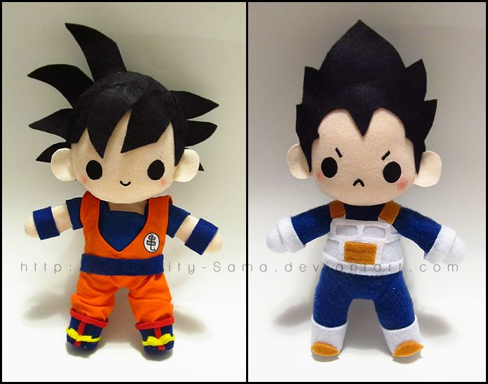 Chibi Goku and Vegeta by Serenity-Sama on deviantART
