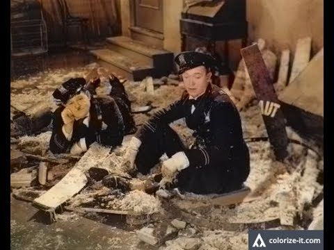 Laurel and Hardy The Midnight Patrol(1933)COLORIZED!!!Best Comedy videos...