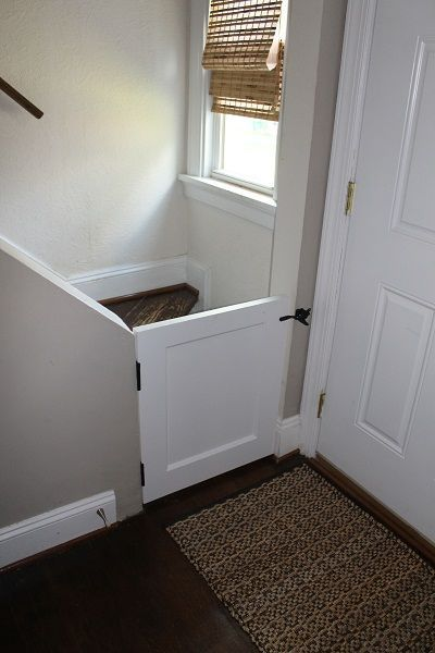 Baby Or Dog Gate Door Cut In Half With Traditional Latch