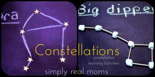 Looking to keep your kids' minds busy during summer vacation? Check out these constellation learning activities!