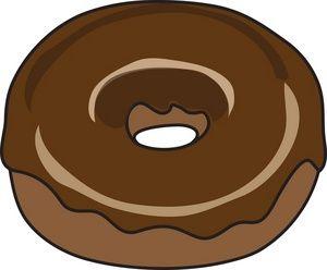 Donut doughnut clipart image a raspberry jelly filled doughnut