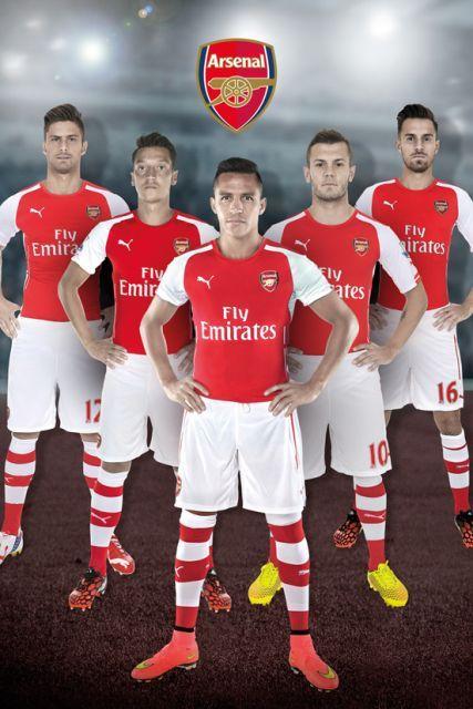 Arsenal Londyn Zawodnicy 14/15 - plakat - 61x91,5 cm  Gdzie kupić? www.eplakaty.pl