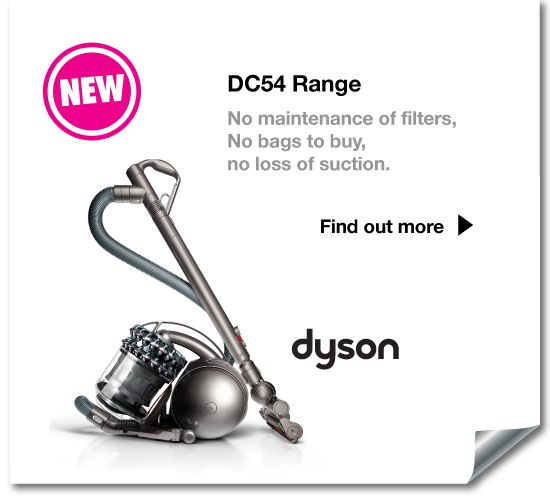 The NEW DC54 range from #Dyson - no bags to buy, no filter maintenance and no loss of suction!