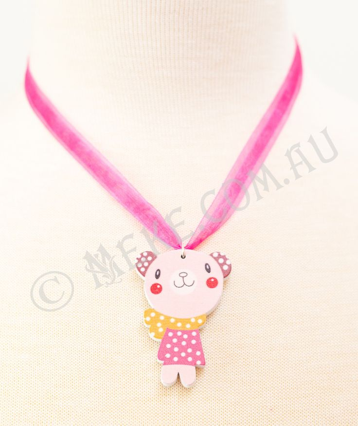 : : Beary Cute Necklace : :  Your special little lady will look cute as a button wearing this gorgeous necklace!  Visit my Etsy store for more info, or to purchase: https://www.etsy.com/au/listing/153866568/beary-cute-childrens-necklace-adorable?ref=related-0  Handmade with love and care by Marianne ♥