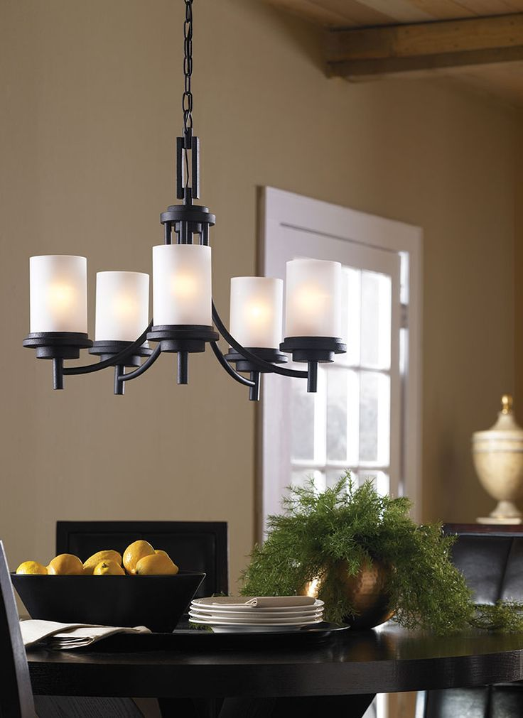 The five light Winnetka chandelier from Seagull Lighting is an amazing finishing touch for any dinning room!