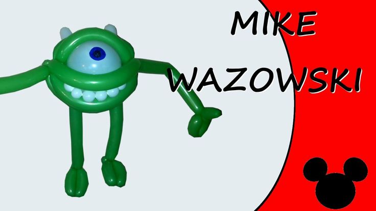 Video tutorial on how to make Mike Wazowski with balloons twisting #MikeWazowski #Wazowski