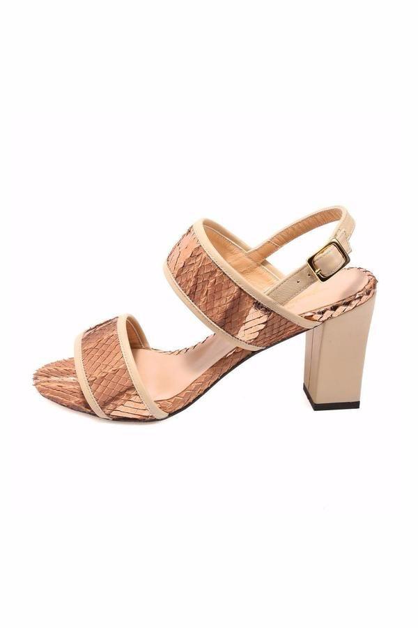 Joaquim Ferrer Brown-Gold Strappy Sandal