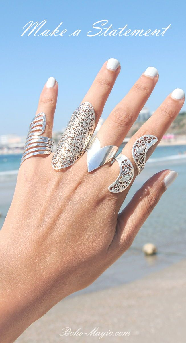 Sterling Silver Handmade Statement Boho Rings Bohemian Rings Full