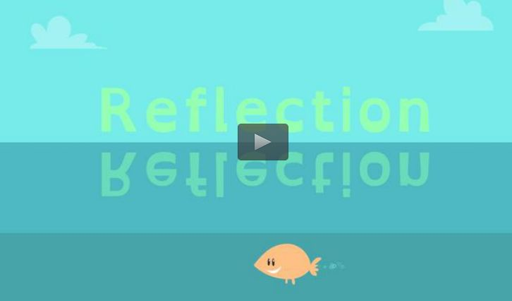 Reflection- In this animated Math Shorts video from the Utah Education Network, learn about reflection, one type of movement for geometric shapes. The animation relates the geometric meaning of reflection to its more common understanding—a mirror image—and then displays geometric shapes on a coordinate plane reflecting through the x-axis and y-axis. In the accompanying classroom activity, students design a geometric figure in one quadrant and then reflect it into at least one other quadrant.