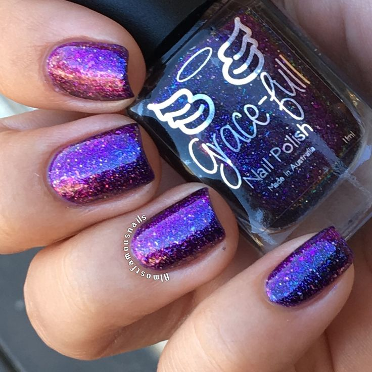 Grace-full - Evening Dreams – a purple base and ultra-chameleon chrome flakies.
