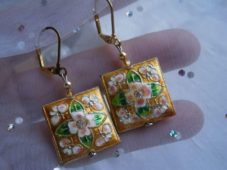 Ohrringe gelb Emaille  von kunstpause auf DaWanda.com