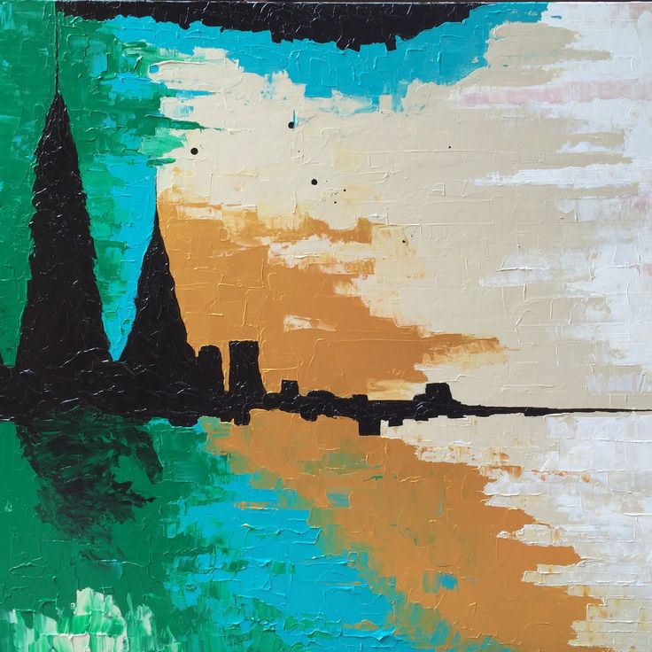 Abstract cityscape with Fresh spring feel. Custom colors and I'm loving the clients' palette choice!! #turquoiseandgreen #abstractart #impasto #heavilytextured #montrealart #UnitedKingdomBound #Lucyspaintshop