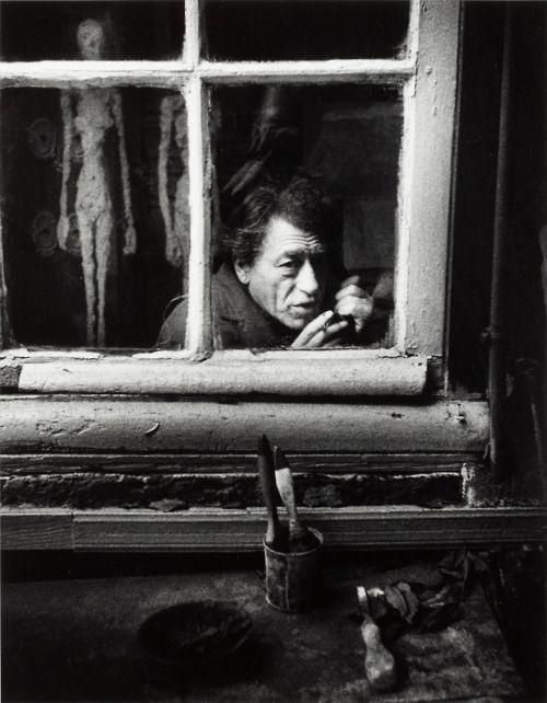 Christer Strömholm, Alberto Giacometti dans son atelier, Paris, 1961