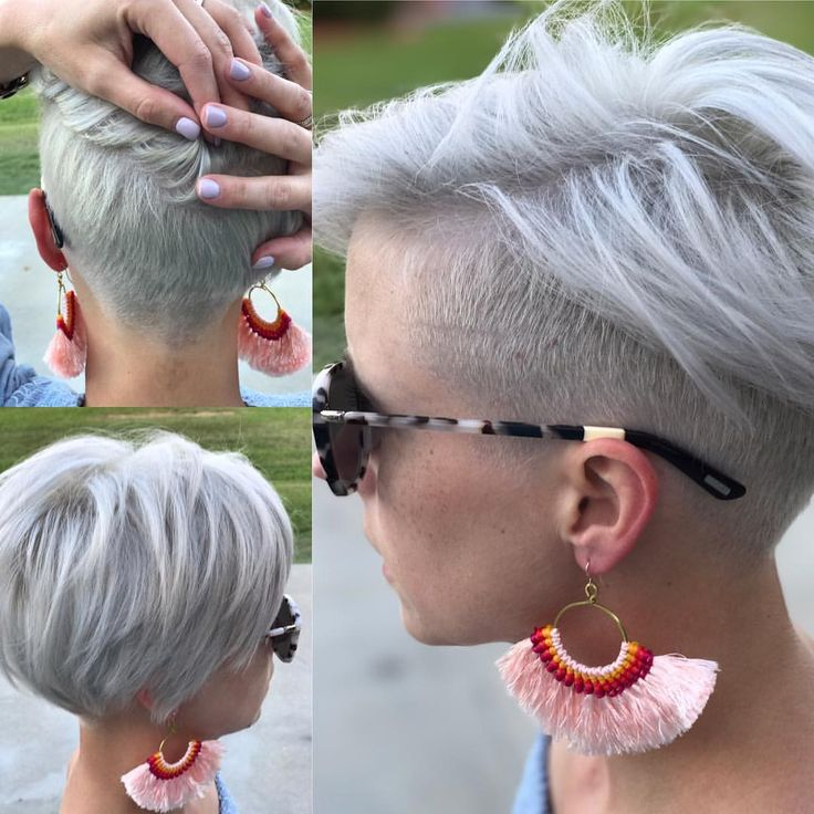 """Pixie, Platinum pixie, undercut, platinum short hair  1,459 Likes, 58 Comments - Melinda Keener 