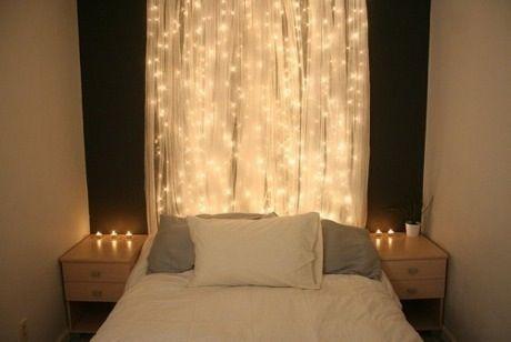 bedroom fairy lights lights pinterest