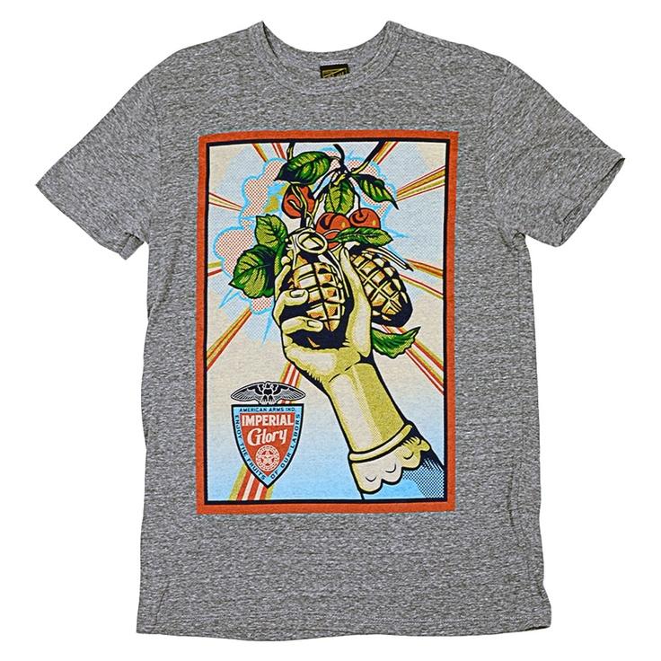 OBEY Imperial Glory tri-blend tee-shirt heather grey - heather onyx 39€ #OBEY #tee #tshirt #tees #tshirts #skate #obama #skateboard #skateboarding #streetwear #streetshop #skateshop
