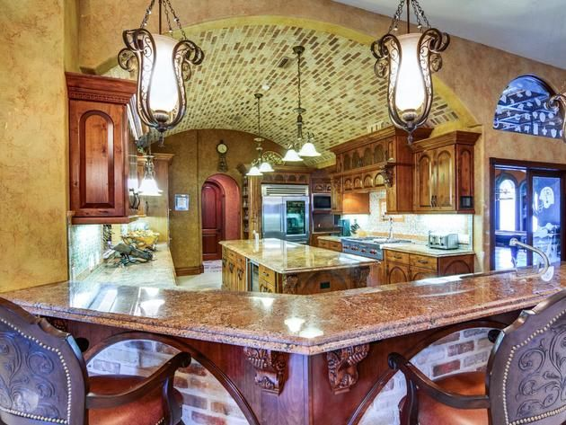 Grand Mediterranean-Style Kitchen | Lasher Contracting  | www.lashercontracting.com. | Southern New Jersey | Roofing & Contracting