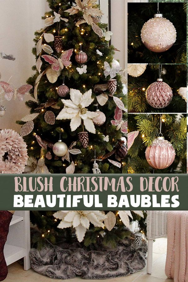 Feel Enlightened This Christmas With Our Range Of Baubles And Decorations Featured In Our Blush Christmas Lookbook Ou Christmas Decorations Gold Christmas Christmas Inspiration