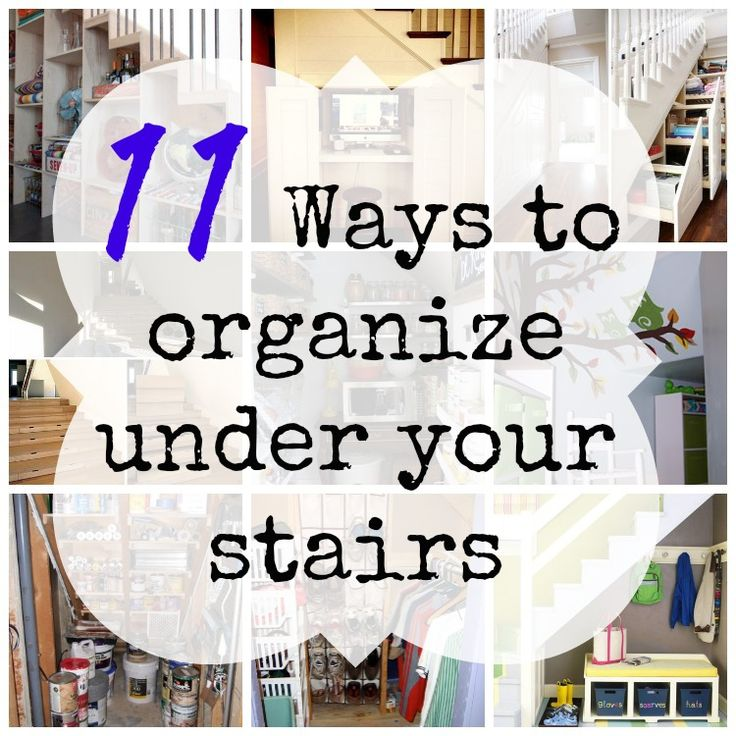 11 Ways to organize under your stairs | Organizing Made Fun: 11 Ways to organize under your stairs