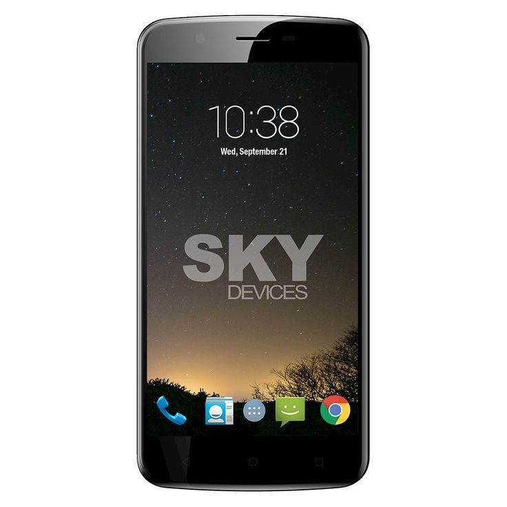 Unlocked SKY Devices - Elite 5.5L+ 4G LTE with 16GB Memory Cell Phone - White