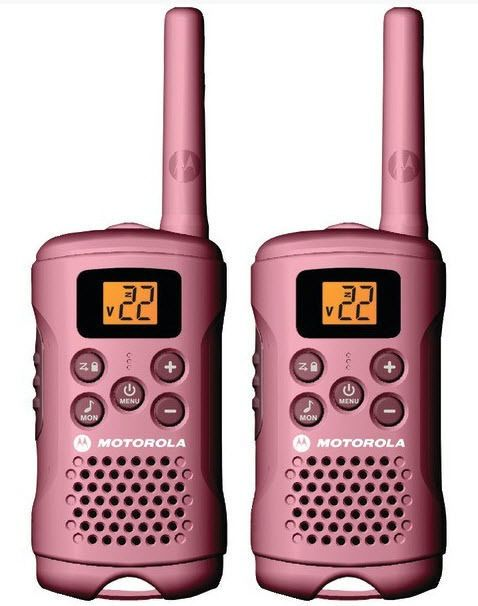 Motorola Pink 22 Channel Talkabout Two-Way Radios with Belt Clips from US Seller #Motorola