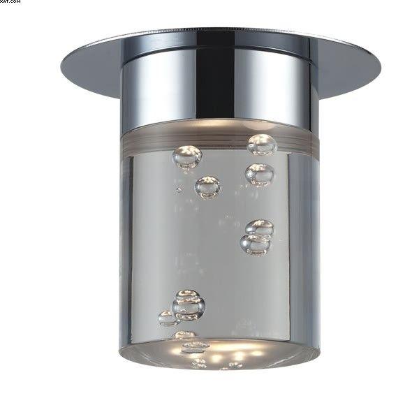 Spot encastré une lumière LED changeable, finition chrome